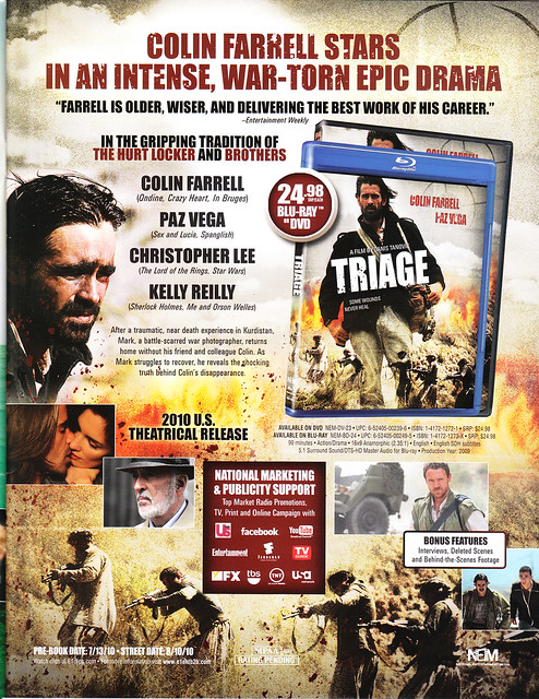"Colin Farrell Jamie Sives ""Triage"" DVD Cover Art"