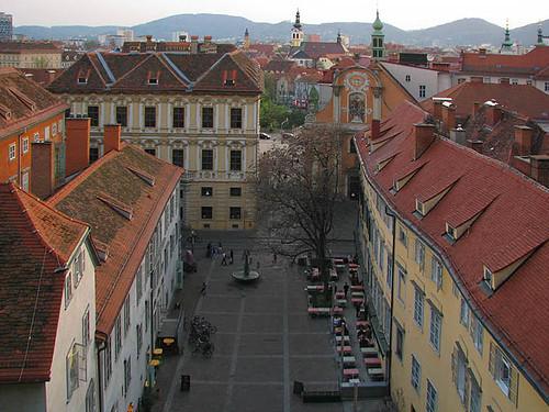 Schlossbergplatz at Late Afternoon