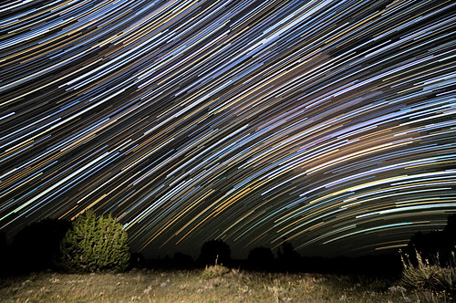 Milky Way Trails Above Purgatoire Canyon by Fort Photo