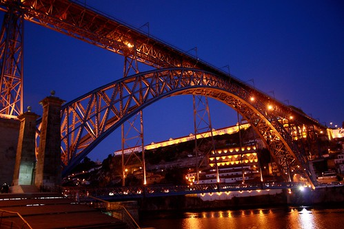 Porto - Bridge at night