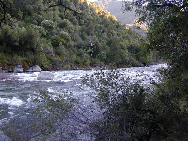 Lower Kings River Flowing