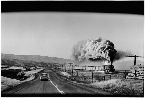 Steam Train Press, Wyoming, by Elliott Erwitt 1954