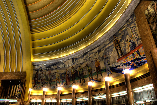 Union Terminal Mosaics by Winold Reiss