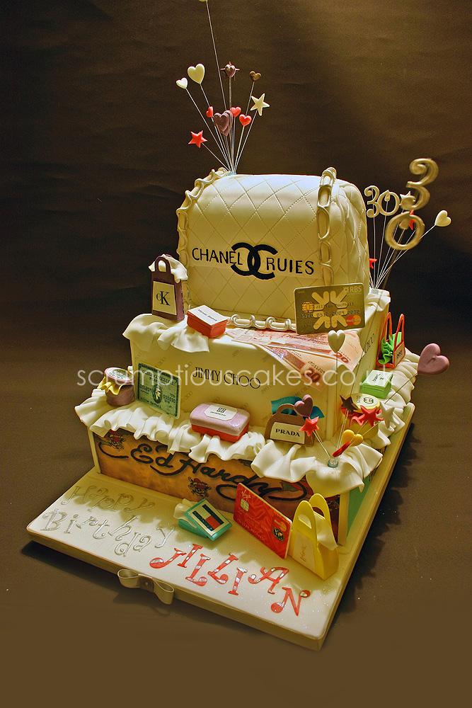 Birthday Cake 570 Designer Handbag Shopping A Photo On