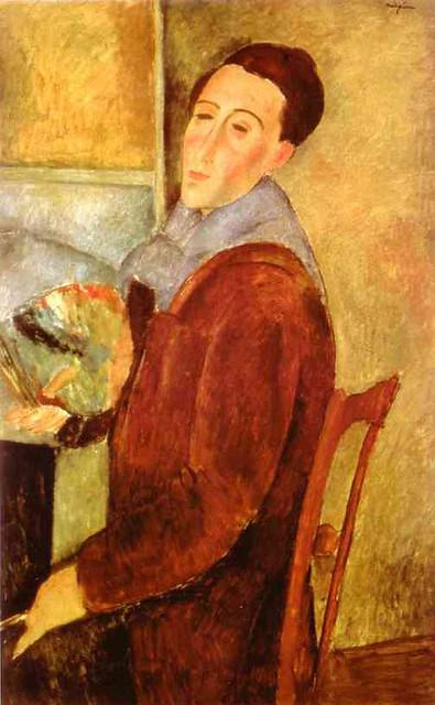 Amedeo Modigliani. Self-Portrait. 1919. Oil on canvas. 100 x 64.5 cm. Museu de Arte Contemporanea da Universidade, San Paulo, Brazil