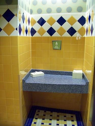 Pop Century Classic Hall restroom - Baby Change Table