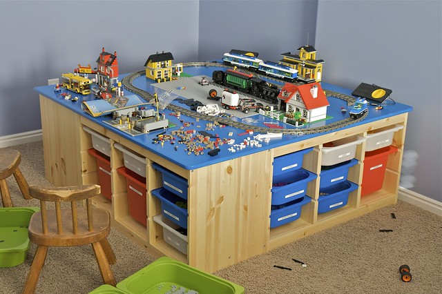 My First Room Toddler 3 Piece Room In A Box: This Is The Table I Built For My