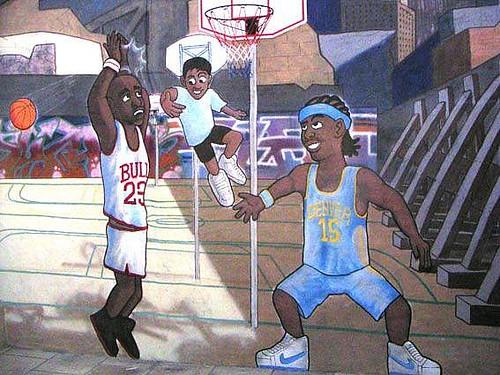 Basketball mural detail flickr photo sharing for Basketball mural