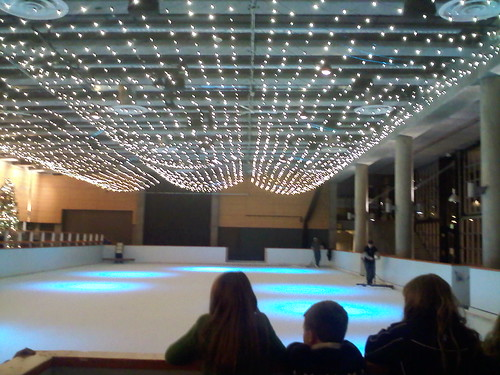 Ice Rink for Winterfest at Seattle Center