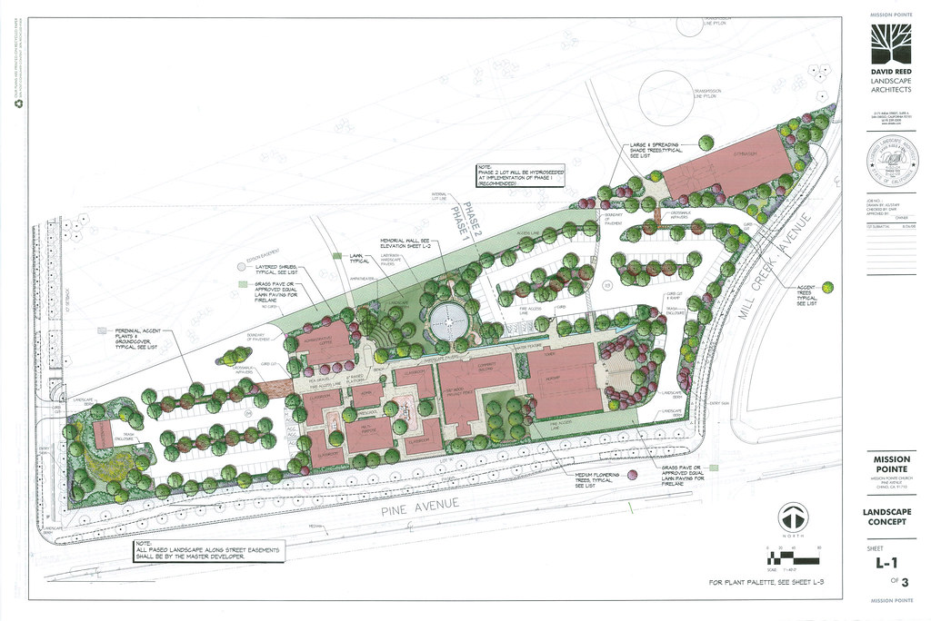 David Reed Landscape Architects » Blog Archive » Mission Pointe Church – Chino, California