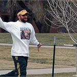 Scott Gardner on hole #18 at Spring Fling 2005 at Expo Park.