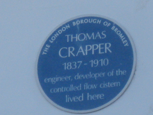 Photo of Thomas Crapper blue plaque