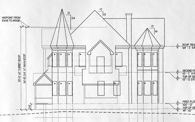 victorian house drawing