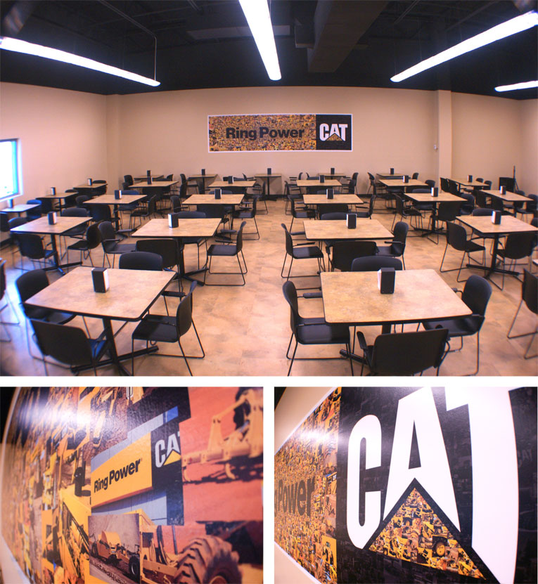 Ring Power CAT Finished Lunchroom Wall Mural