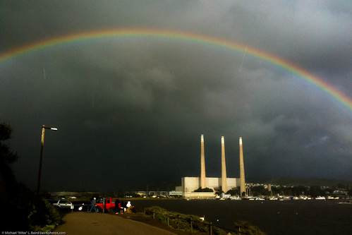 Full 180-degree Rainbow over Morro Bay, CA, with Dynegy aka Duke Energy under arch, 21 Jan 2010