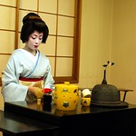 Geiko Makiko, making tea