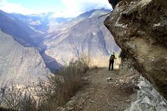 Steep trails down - Choquequirao - Peru (2)