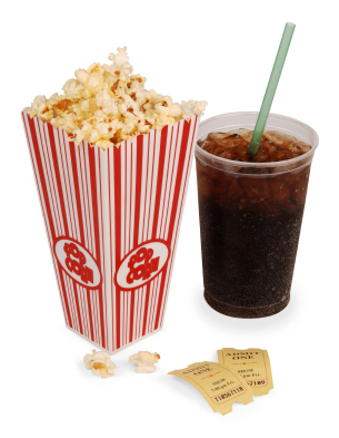 popcorn and movie - by ScypaxPictures on Flickr, CC BY-ND 2.0 license