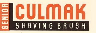 Culmak Shaving Brush packaging, designed by Milner Gray - c1936