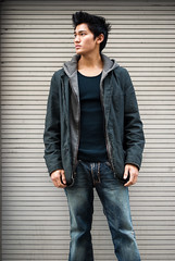 denim, textile, clothing, collar, outerwear, jacket, photo shoot, hood,