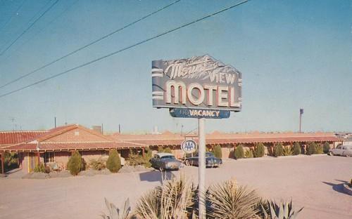 vintage texas postcard motel elpaso mountview