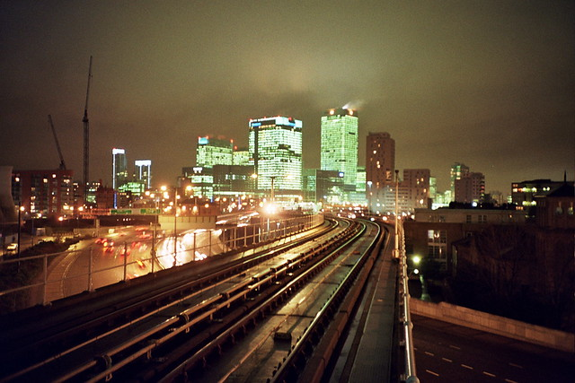 View from East India DLR - Lomo