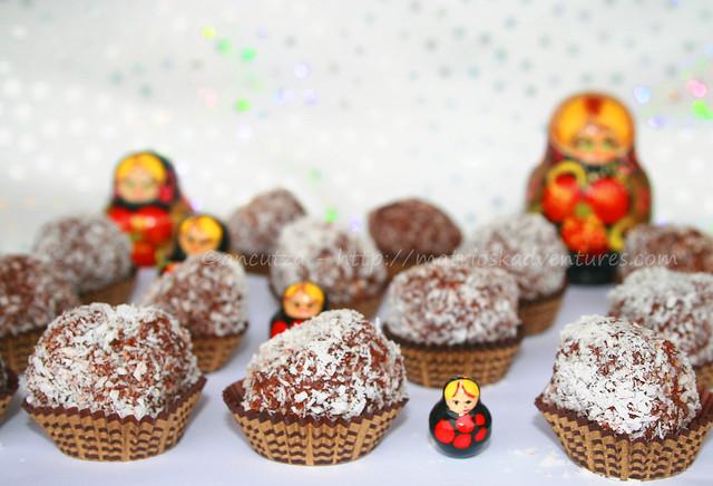 immagine Tartufi al cioccolato con cocco