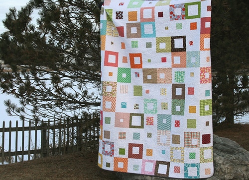 spotted squares quilt - twin sized