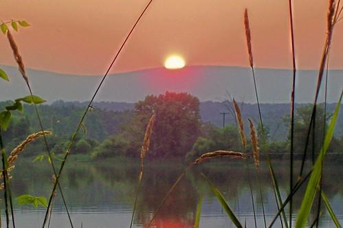 sunset shawneestatepark pennsylvaniastateparks