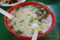 steamed rice(0.0), produce(0.0), meal(1.0), vegetable(1.0), food(1.0), dish(1.0), congee(1.0), soup(1.0), cuisine(1.0),