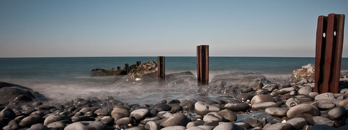 bw west beach wales nikon 10 stop filter nd gps groyne groin aberaeron gp1 d90 dsc0526 nd110