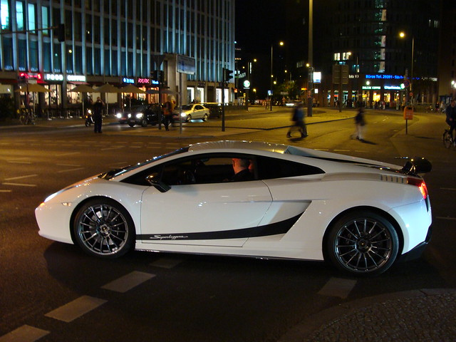White Lamborghini Gallardo Superleggera at Potsdamer Platz ...