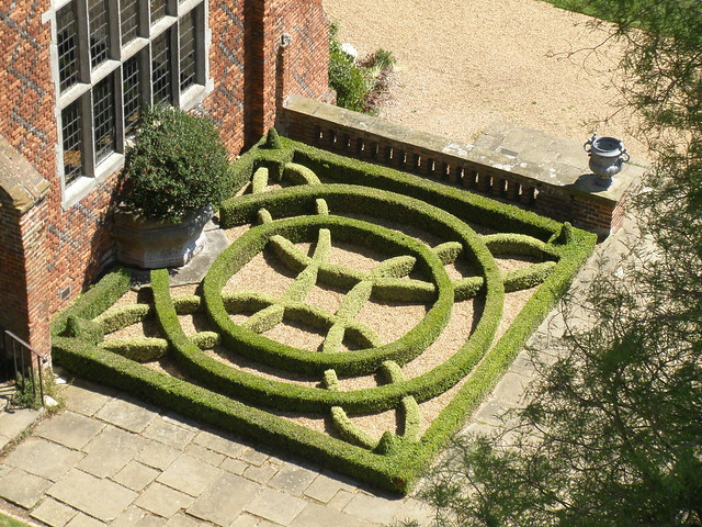 Tudor knot garden a closeup view by for Knot garden designs herbs