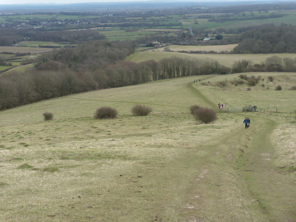 View from Woolstonbury Hill Hassocks to Upper Beeding