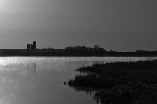 lake minnesota silhouette sunrise landscape pond nikon farm sigma steam reservoir rochester mn 70200 d300s silod300snikon