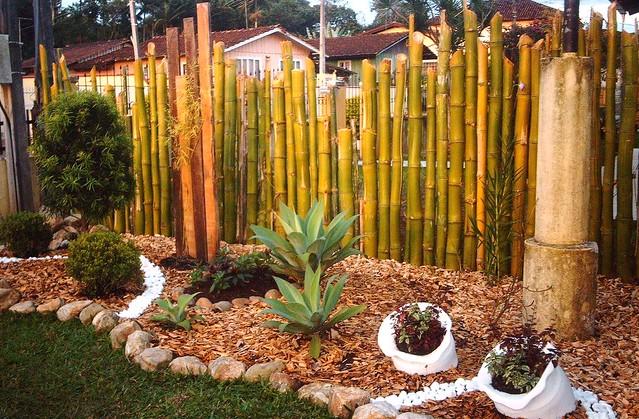 Cerca de bambu  São muito empregadas para fechar quintais