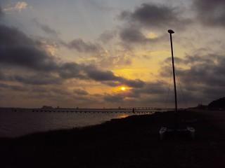 Sunset mast at Gulf Springs