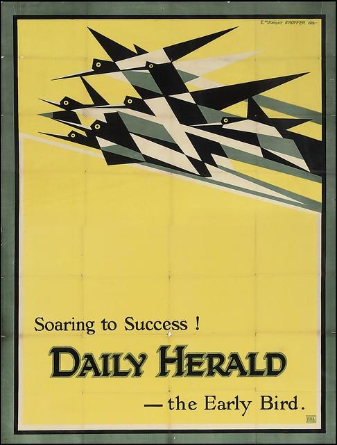 daily herald, McKnight, edward, modernism, futurism, flight, 1916, kauffer