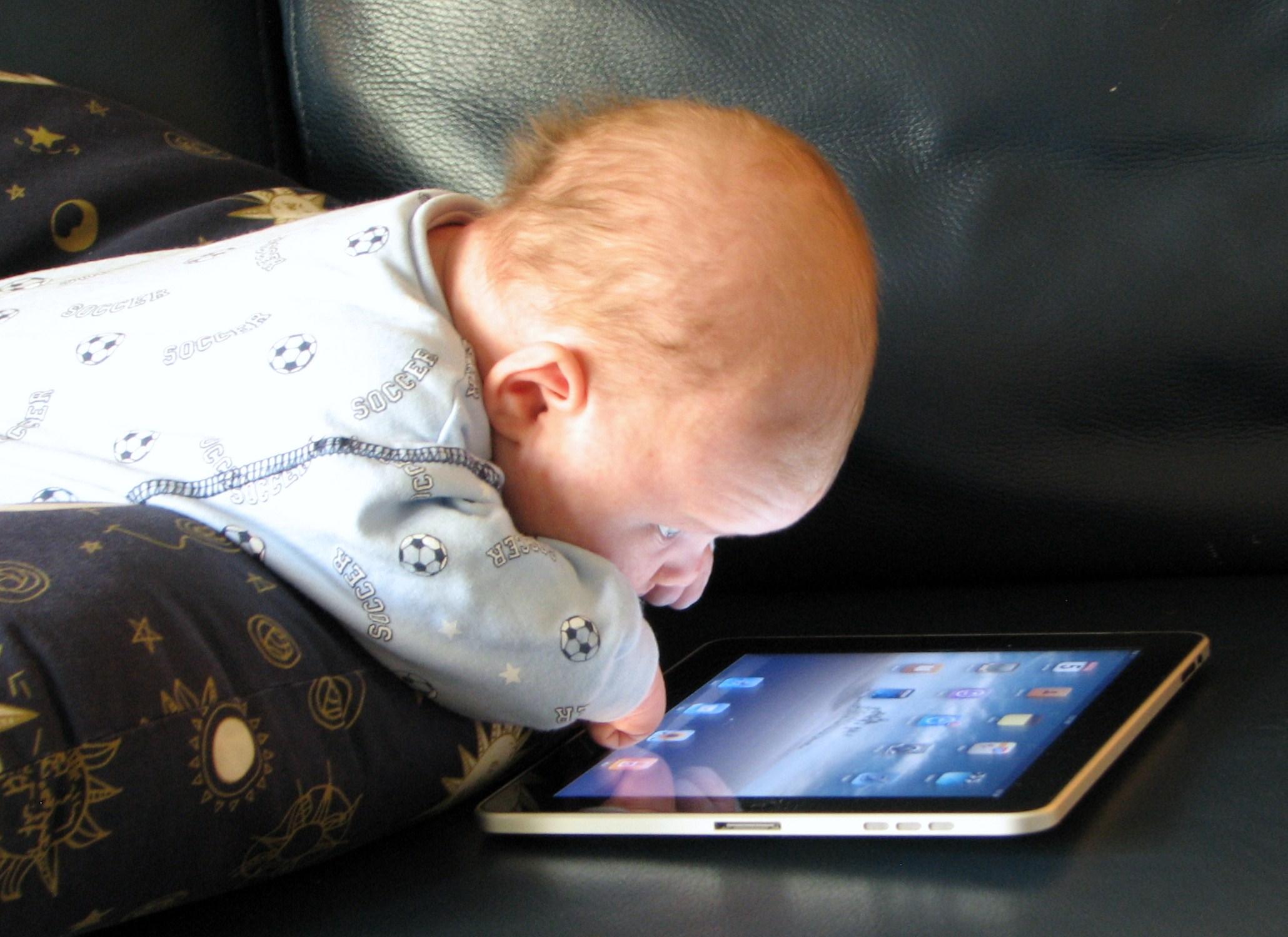 Baby Using iPad