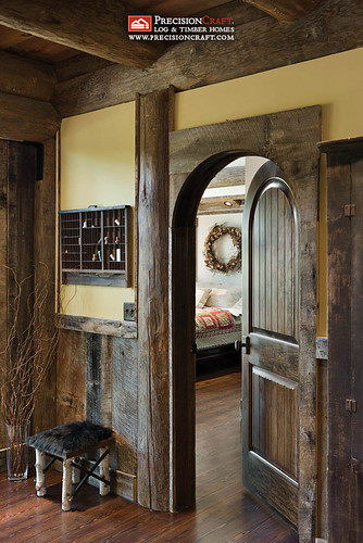 Entry into Master Bedroom | PrecisionCraft Post & Beam Homes