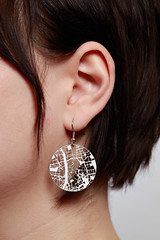 Fluid Forms Streets Earrings Left