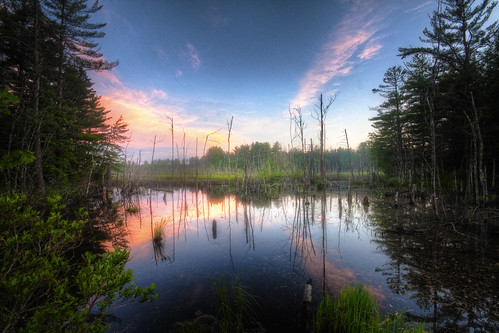 sunset reflection water photoshop canon landscape swamp hdr townsendma