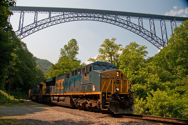 CSX Under the New River Bridge