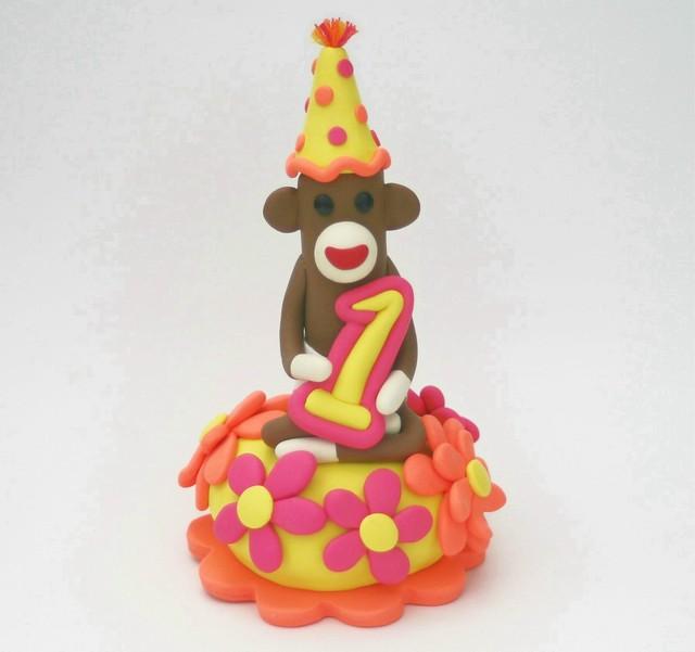 girl monkey birthday cakes