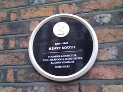 Photo of Henry Booth black plaque