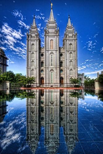 reflections utah skies saltlakecity templesquare topaz mormontemple photomatix ldstemple saltlakecitytemple hdraddicted canonrebelxsi fresnatic