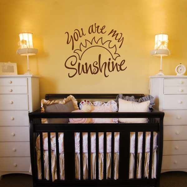You Are My Sunshine Childrens Wall Sticker Ideas