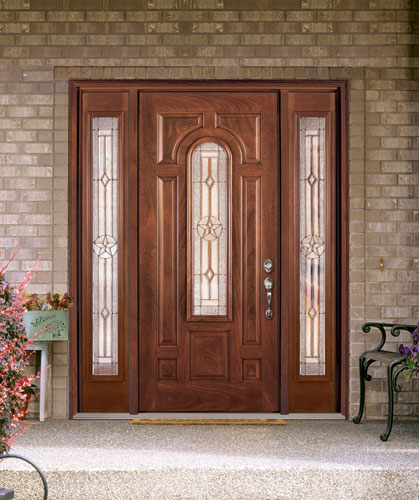 Feather river door fiberglass entry doors mahogany door for Side doors for houses