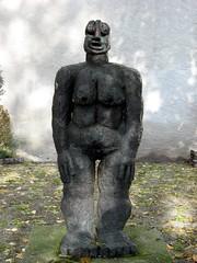 Sculpture on the battlements walk