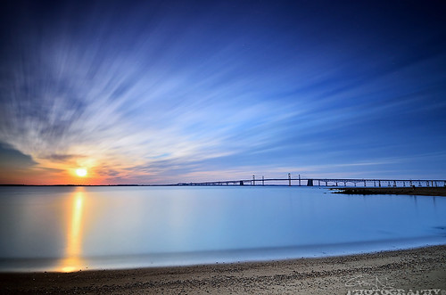 longexposure blue orange beach water clouds sunrise bay nikon maryland filter lee nd sandypointstatepark d7000 bigstopper